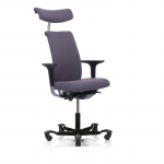 5500 with arms, headrest black base