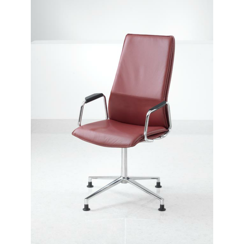 Hbb2ha high back swivel conference chair with arms for Swivel accent chairs with arms