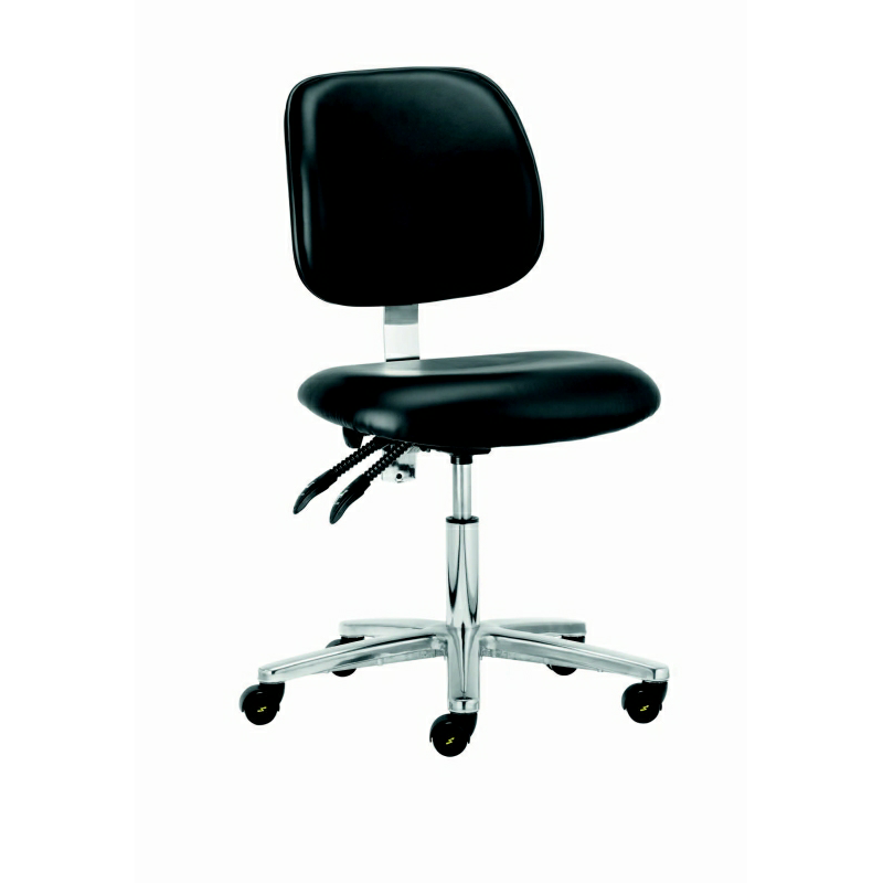 301 302 ESD vinyl low chair on castors with and fully