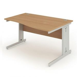 RH Wave desk with cable management
