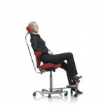Capisco seating with step up