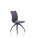 5470 fully upholstered meeting chair no arms black legs