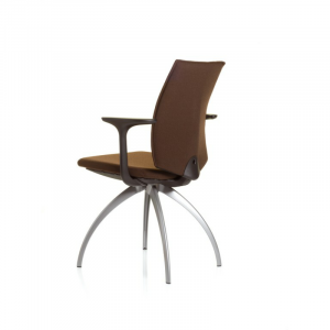 5470 fully upholstered meeting chair with arms silver legs