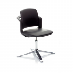 9742 sideways chair fully upholstered Black