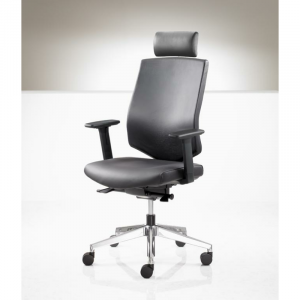 G3H with adjustable arms headrest and chrome base