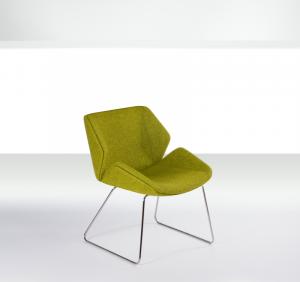 OYMU1 Upholstered medium back with skid base
